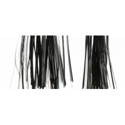 "10 inch Pre-Tied Tinsel Tail - 1/16"" solid Black"