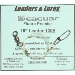 130# 18in Seaguar Fluoro Premier Ball Bearing