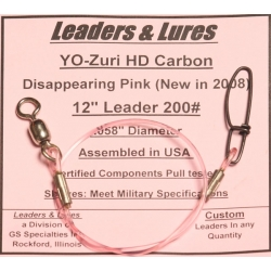 200# 12in YoZuri HD Carbon Disappearing Pink Rosco