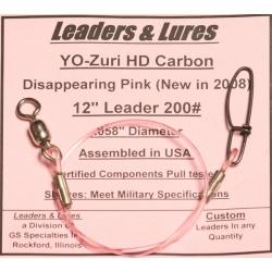 200# 12in YoZuri HD Carbon Disappearing Pink Rosco