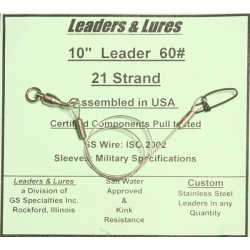 60# 21 Strand Steel Leaders