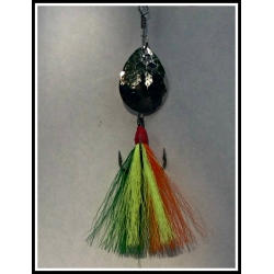 #5 Bucktail with Designer tied Bucktail tied directly on a VMC hook