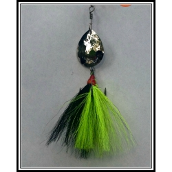 Black with a Chartreuse Strip Designer Tail