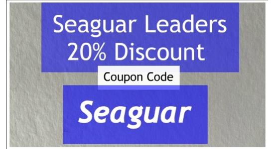 Seaguar Leaders 80 LB to 150LB ending 4/30/20