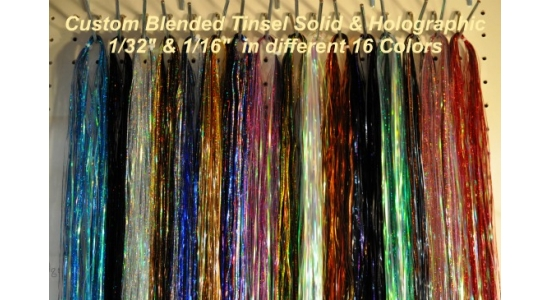 "1/32"" & 1/16"" Custom Blended Tinsel by Weight"