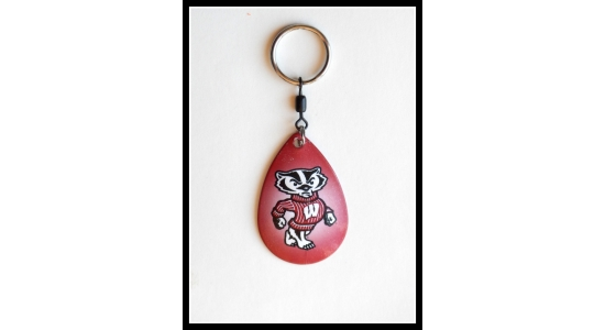 Bucky The Badger - Key chain (Officially Licensed Product)