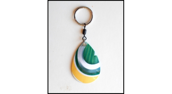 Green & Gold - Key Chain