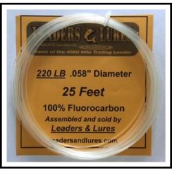 100% Fluorocarbon 220 LB 25 Feet