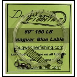 """60"""" 150lb Seaguar Blue Lable & Ring"""