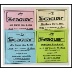 Seaguar Big Game Blue Lable:  19.5 and 25 feet lengths