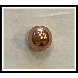 """Hollow Beads 1/4"""" Copper"""