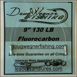 "9"" 130lb Fluorocarbon & Stay-Loc Snap"
