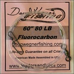 "60"" 80lb Fluorocarbon & Stay-Loc Snap"