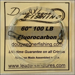 "60"" 100lb Fluorocarbon & Stay-Loc Snap"