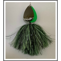 Pipefitter: Black Holo and Solid, Dyed Flat Spruce Green Skirts with #9 Fluted and Plain #10 Blades