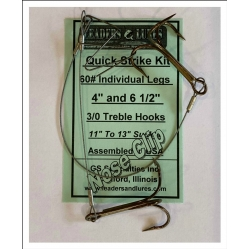 60# Quick Strike Kit Twin Legs with Musky Nose Clip