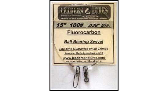 """15"""" 100# Fluorocarbon Leader"""