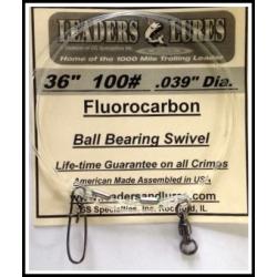 "100# 36"" Fluorocarbon Leader .039"" Dia"
