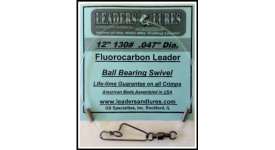 """12"""" 130# Fluorocarbon Leader"""