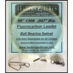 "130# 96"" (8-ft) Fluorocarbon Leader"