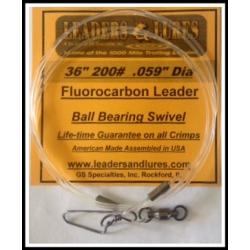 "200# 36"" Fluorocarbon Leader .059"" Dia"