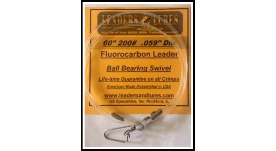 """60"""" 200# Fluorocarbon Leader"""