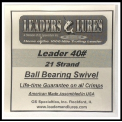 40# 21 Strand Steel Leaders