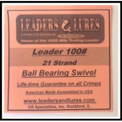 100# 21 Strand Steel Leader