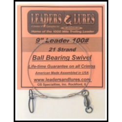 100# 9in 21 Strand Steel Leader