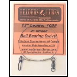 100# 12in 21 Strand Steel Leader