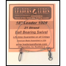 100# 18in 21 Strand Steel Leader