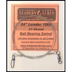 100# 24in 21 Strand Steel Leader