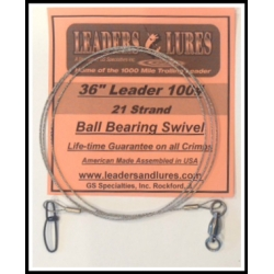 100# 36in 21 Strand Steel Leader