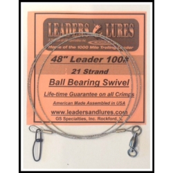 100# 48in 21 Strand Steel Leader