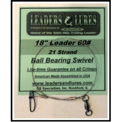 60# 18in 21 Strand Steel Leader