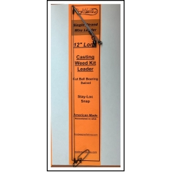 """Casting Weed Kit Leader 12"""" Solid Wire Ball Bearing & Stay-Loc"""