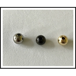 "Holo Beads 3/8"" Brass, & Nickel"