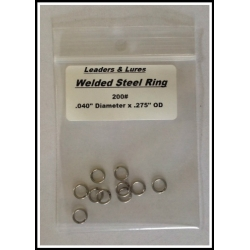 """10 ea. Welded Solid Stainless Steel Ring .040"""" x .275"""""""