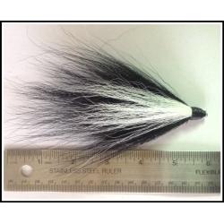 Black Bucktail with a Horizontal White Stripe