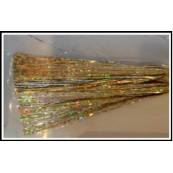 6 inch 300 strand Holo Gold with Silver Twist Blended