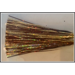 6 inch 300 strand Holo Bronze & Holo Gold with Gold Twist Blended