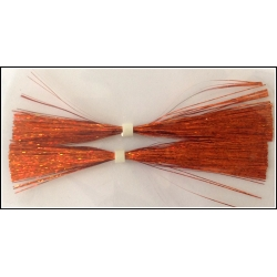 "4"" Walleye Jig Skirt Holo Orange"