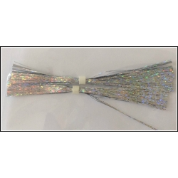 "4"" Walleye Jig Skirt Holo Silver"