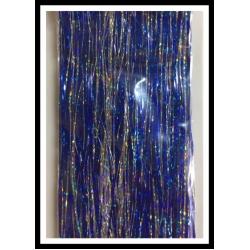 "32"" 450 strand Holo Blue and Holo Silver blend"