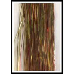 """32"""" 450 strand Solid Red/Solid Gold blend"""