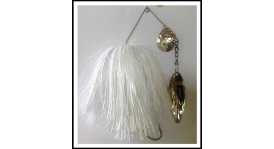"Spinnerbait Headless 1 oz on .062"" solid  wire Snow White"