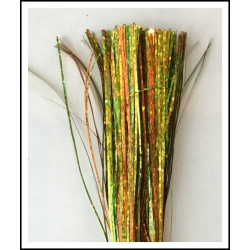 "64"" 450 strand Orange/Spring Green/Yellow Holographic blend"