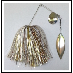 "3/4 oz Spinnerbaits .051"" Wire Custom White Blends"