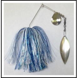 Spinnerbait - Snow White 3/4 oz. .051 Wire Snow White, holo aqua, solid blue