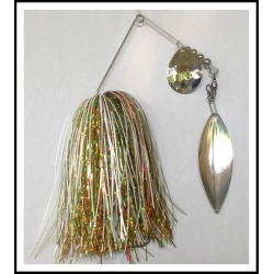 Spinnerbait - Snow White 3/4 oz. .051 Wire Snow White, holo orange, holo yellow, holo spring green